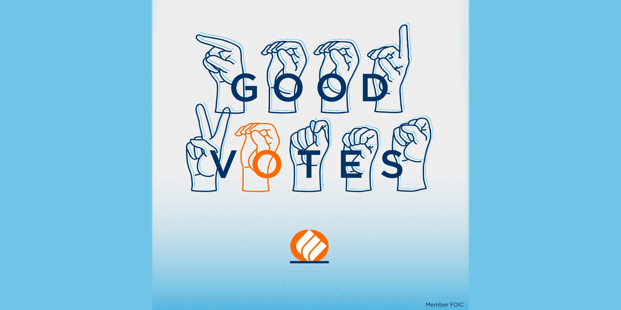 good votes social graphic made by Eastern Bank
